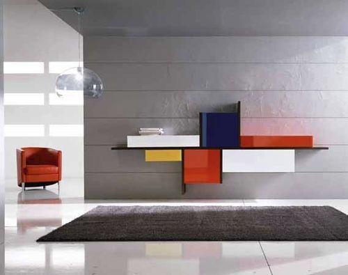 Original design wall mounted sideboard pescarollo for Industria mobili