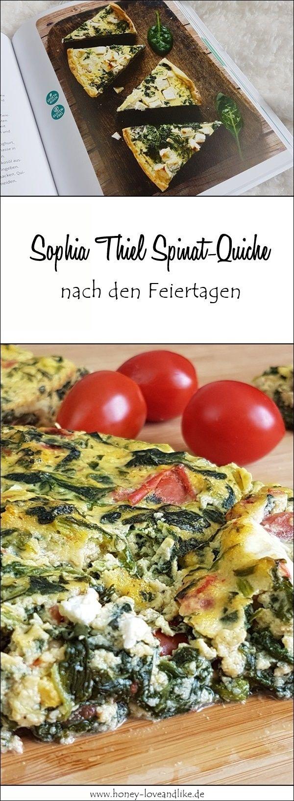 Nachgekocht Sophia Thiel : leichte Spinat-Feta-Quiche - lowcarb #vejetaryentarifleri
