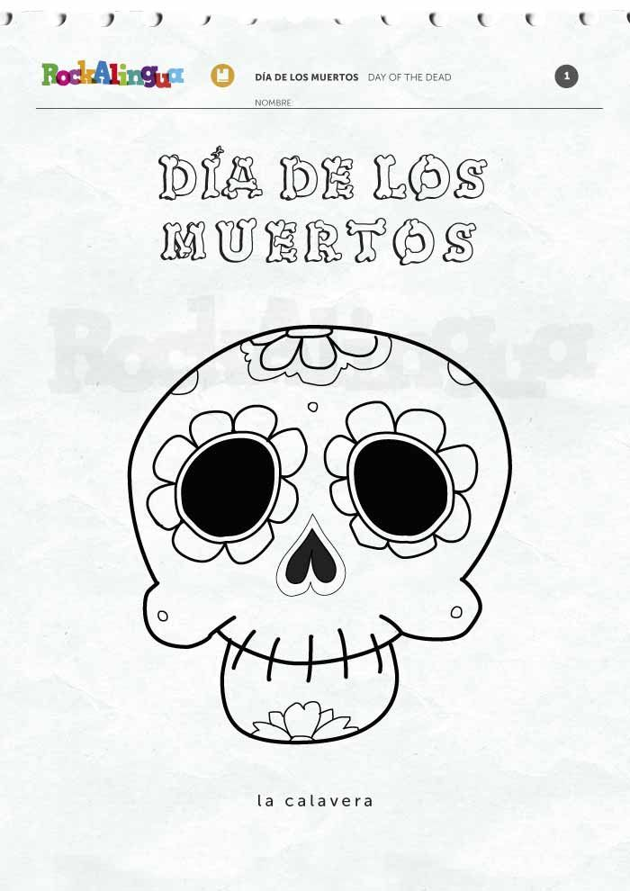 Day of the dead worksheets // Fichas del día de los muertos ...