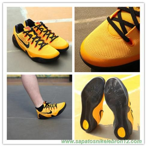 new product 7be48 97651 ... tenis de marca barato Masculino-Mulheres Nike Kobe 9 EM XDR 653972-700  Amarelo ...