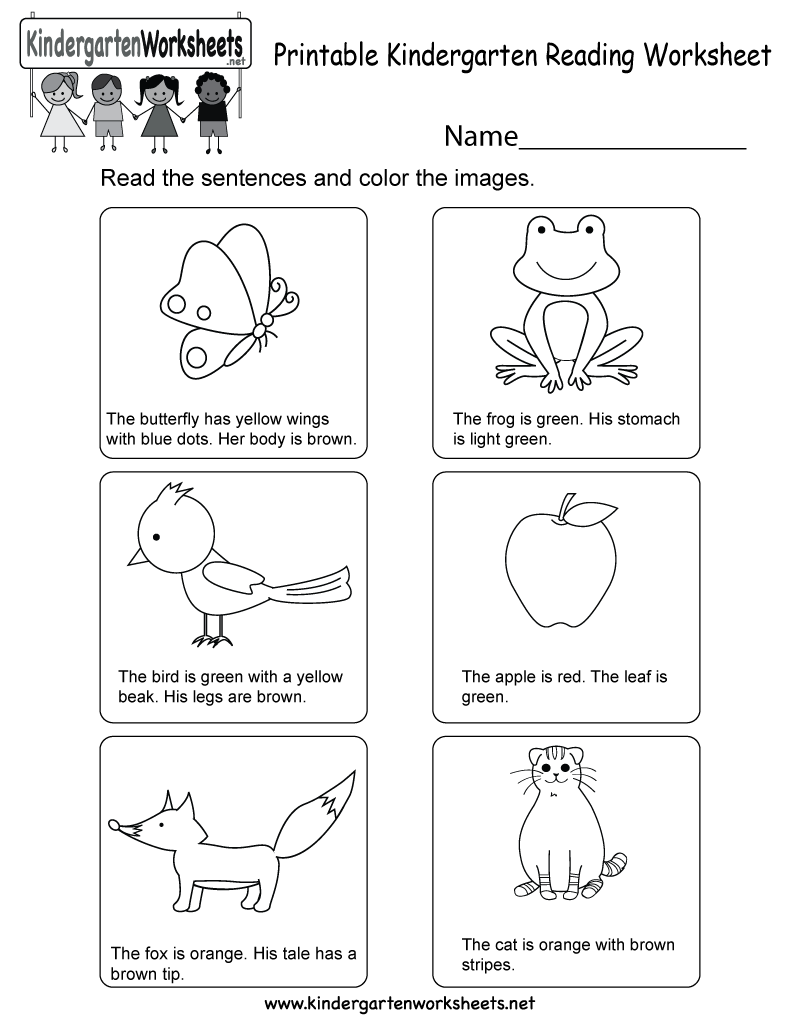 This Is A Fun Reading Worksheet For Kindergarteners This