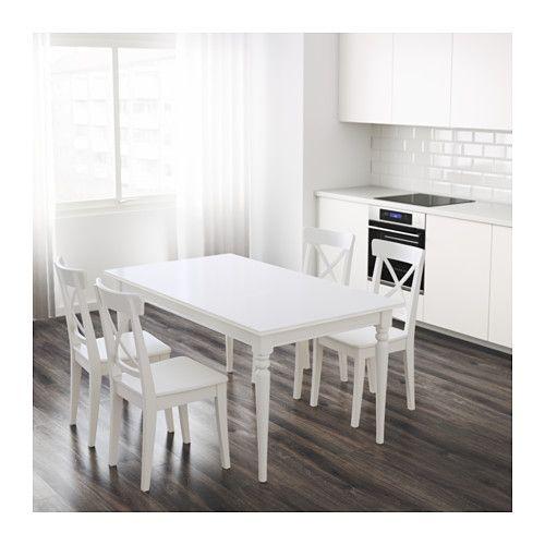 Ikea Witte Eettafel Uitschuifbaar.Ingatorp Uitschuifbare Tafel Wit 155 215 X 87 Cm Wonen
