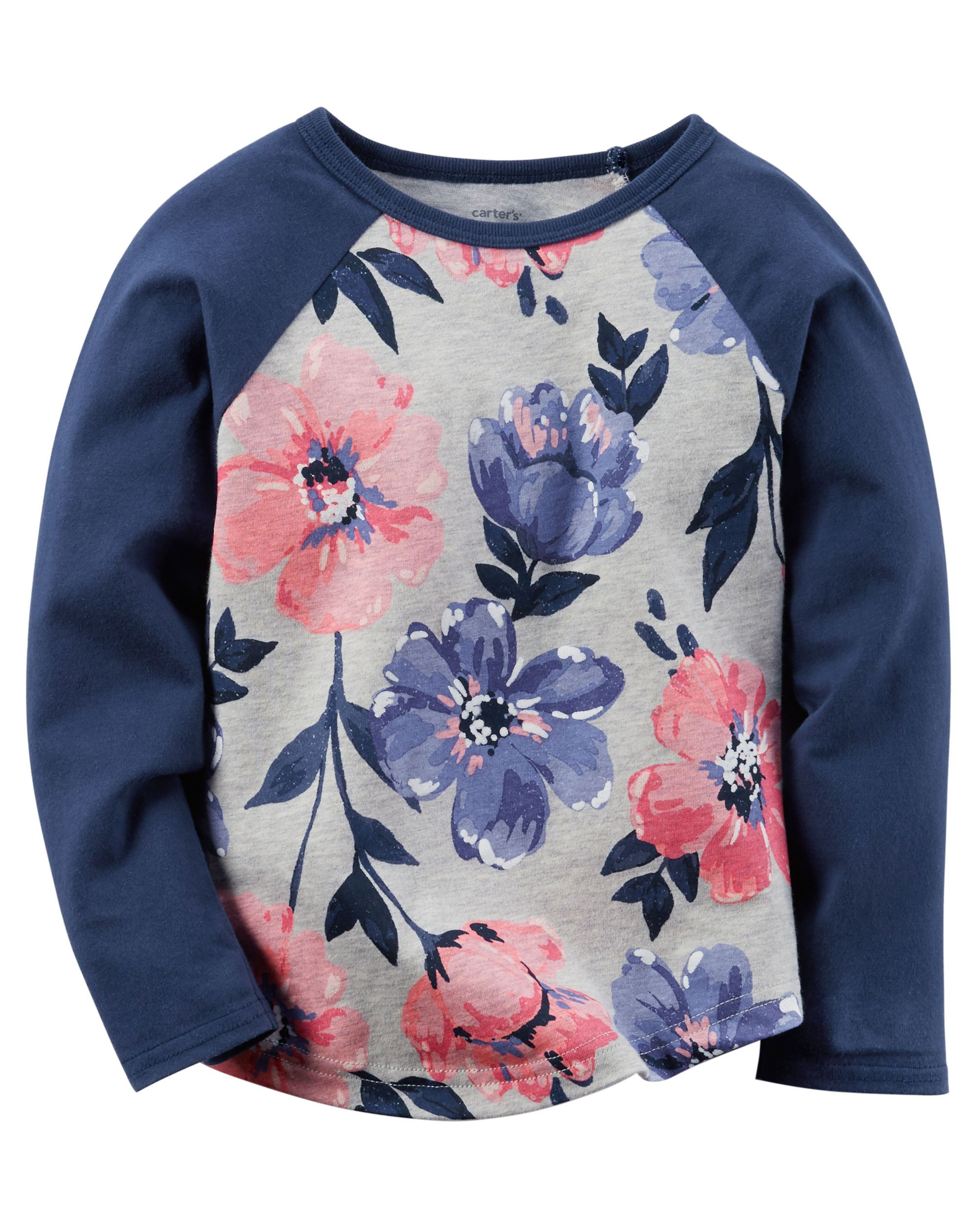 a7de5ad74f574 Crafted in soft jersey with raglan sleeves and a floral print, she's recess…