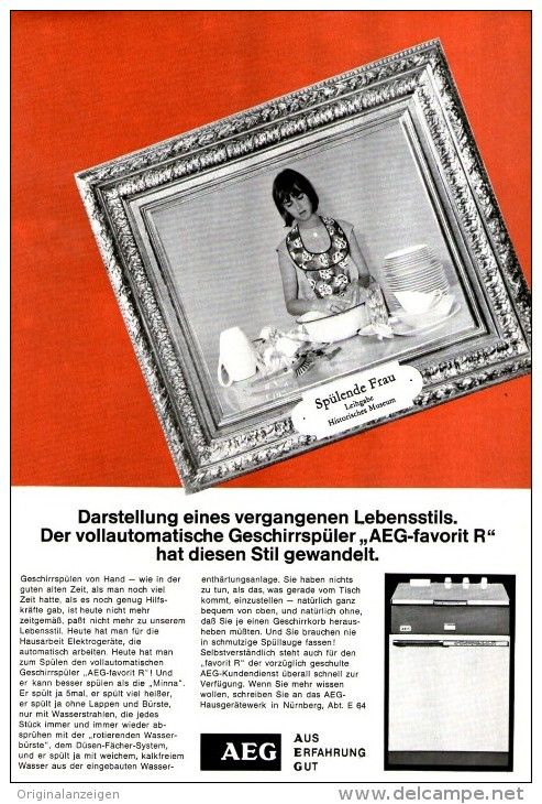 OriginalWerbung/ Anzeige 1966 1/1SEITE AEG