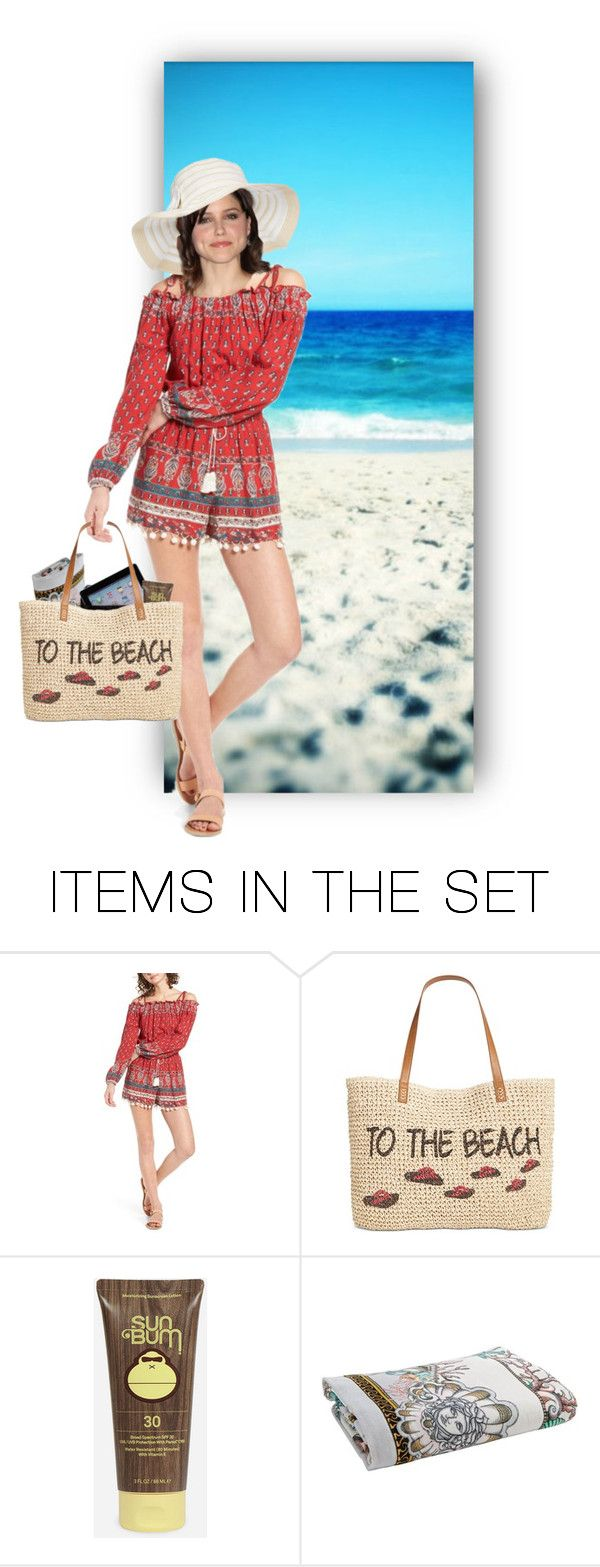 """To the Beach !"" by auntiehelen ❤ liked on Polyvore featuring art"