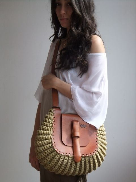 Leather + cotton cord (selection) / bags, clutch bags, suitcases / SECOND STREET