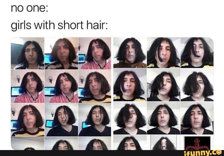 No One Girls With Short Hair Ifunny Girl Short Hair Short Hair Styles Hair