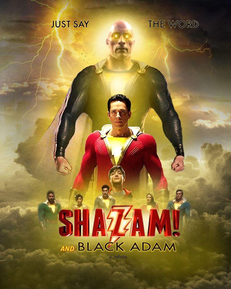 Black Adam Shazam movie style
