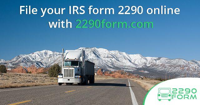 2290 Form Form 2290 File Form 2290 Irs Form 2290 Hvut Form