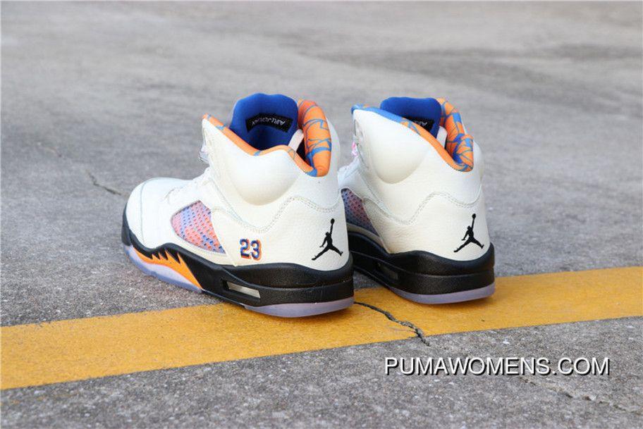 Air Jordan 5 Aj5 AJ5 International Flight 136027-148 Mens Basketball Shoes  Sail Orange Peel-Black-Hyper Royal Free Shipping 620f3b139