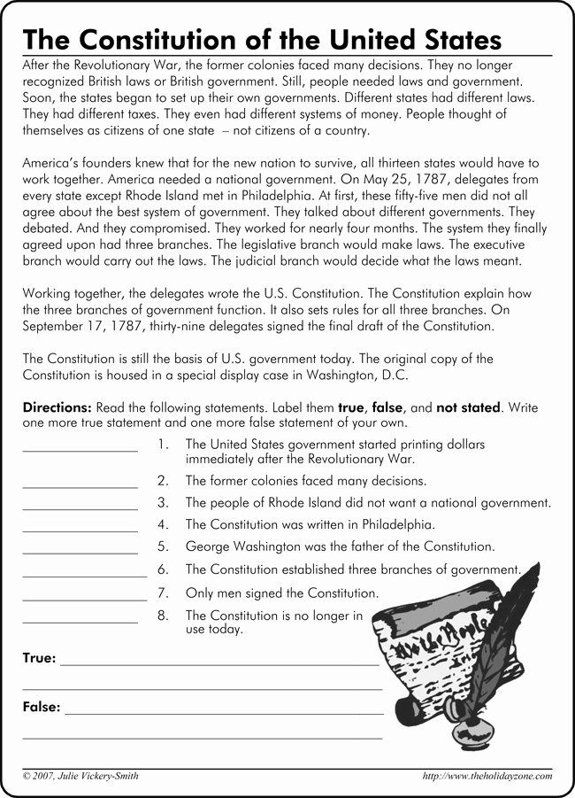 50 the Us Constitution Worksheet in 2020   Constitution ...