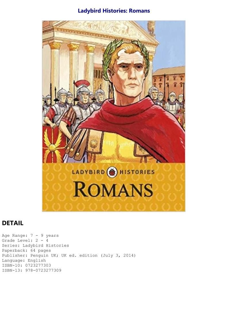 Ladybird Histories Romans For Any Device Roman English