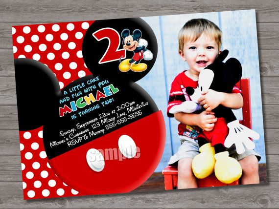 HUGE SELECTION Mickey Mouse Birthday Invitation