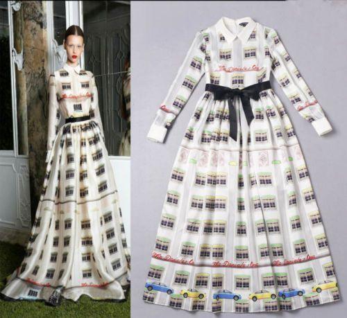 Free Shipping New Windows Printed Doll Collar Runway Trendy Maxi Emo Dress 2 4 6 #emodresses Free-Shipping-New-Windows-Printed-Doll-Collar-Runway-Trendy-Maxi-Emo-Dress-2-4-6 #emodresses