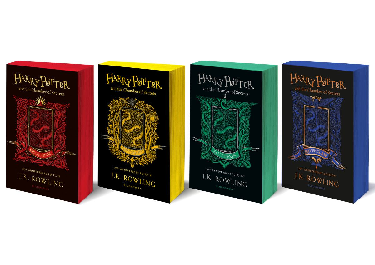 New Versions Of The Second Harry Potter Book Chamber Of Secrets