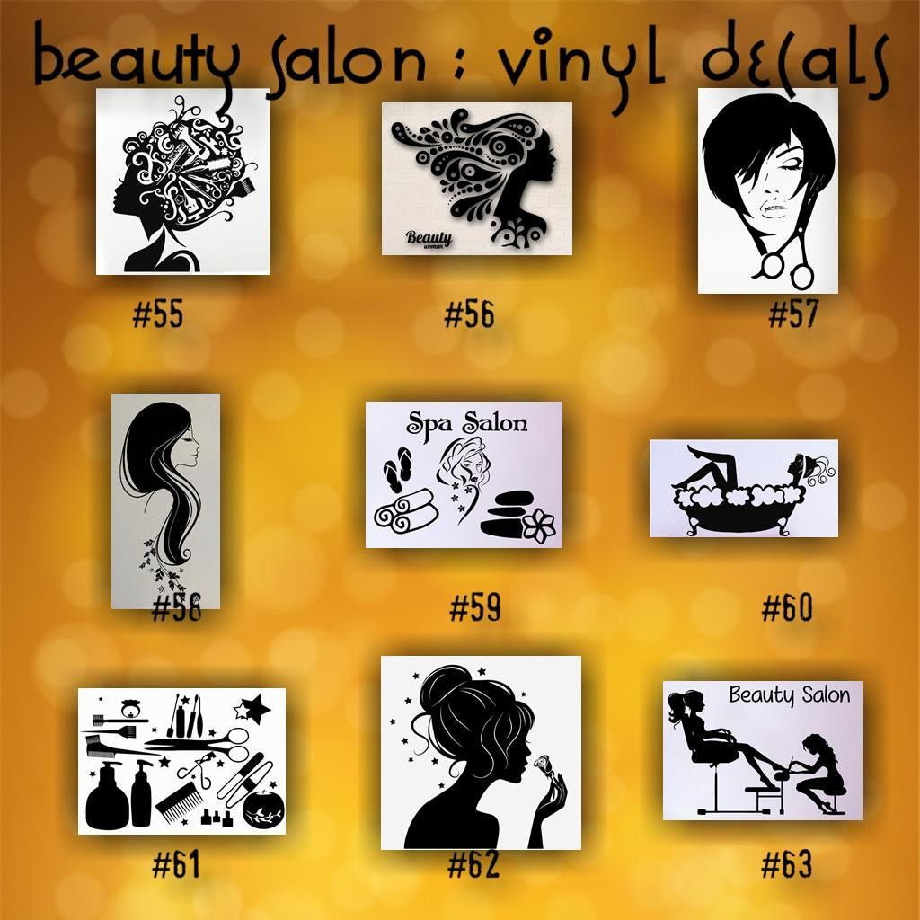 Beauty Salon Car Decals Hairdresser Sticker Hair Stylist Car - Custom die cut vinyl car decals
