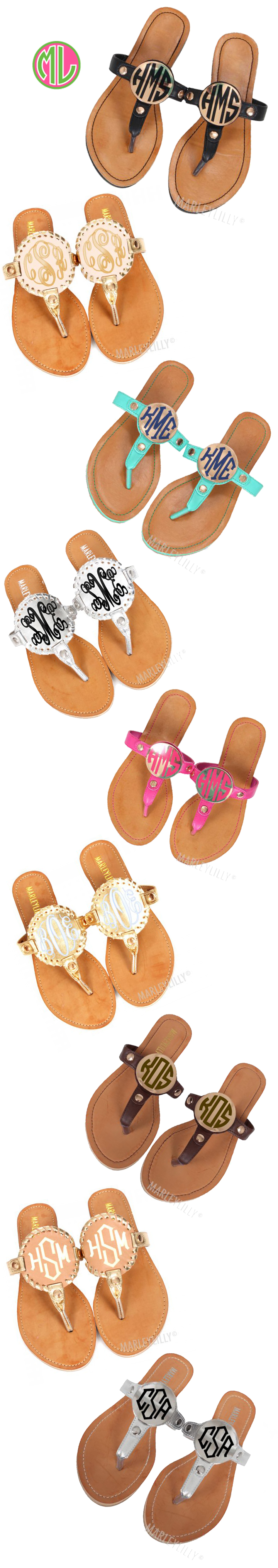Have you seen these amazing Monogrammed Sandals? They range from $29.99-$44.99 and would be so unique for Mother's Day! Get Mom a pedicure and a personalized set of these with her initials! Or maybe even matching pairs!