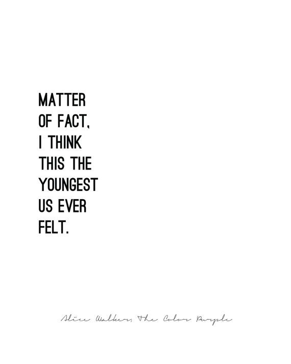 THE COLOR PURPLE// Alice Walker // quote by LuminousParticular ...