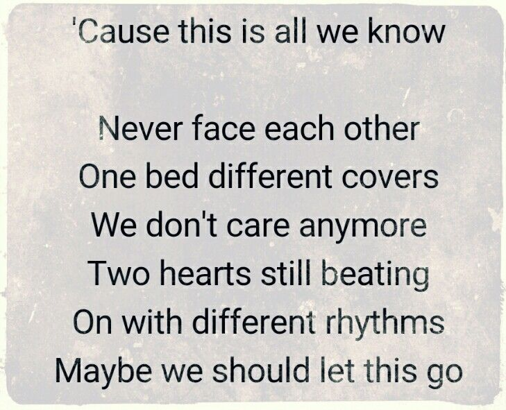 All we know lyrics chainsmokers meaning