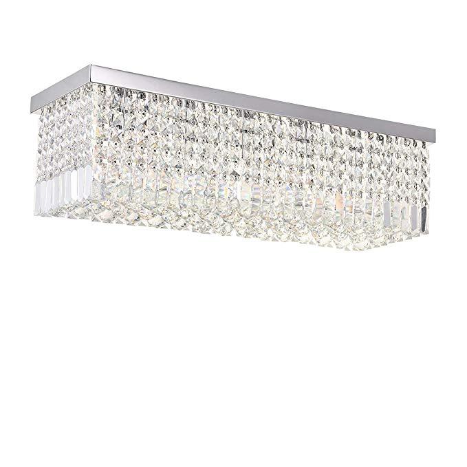 A1a9 Modern Crystal Chandelier Lighting Luxury Rectangle Raindrop