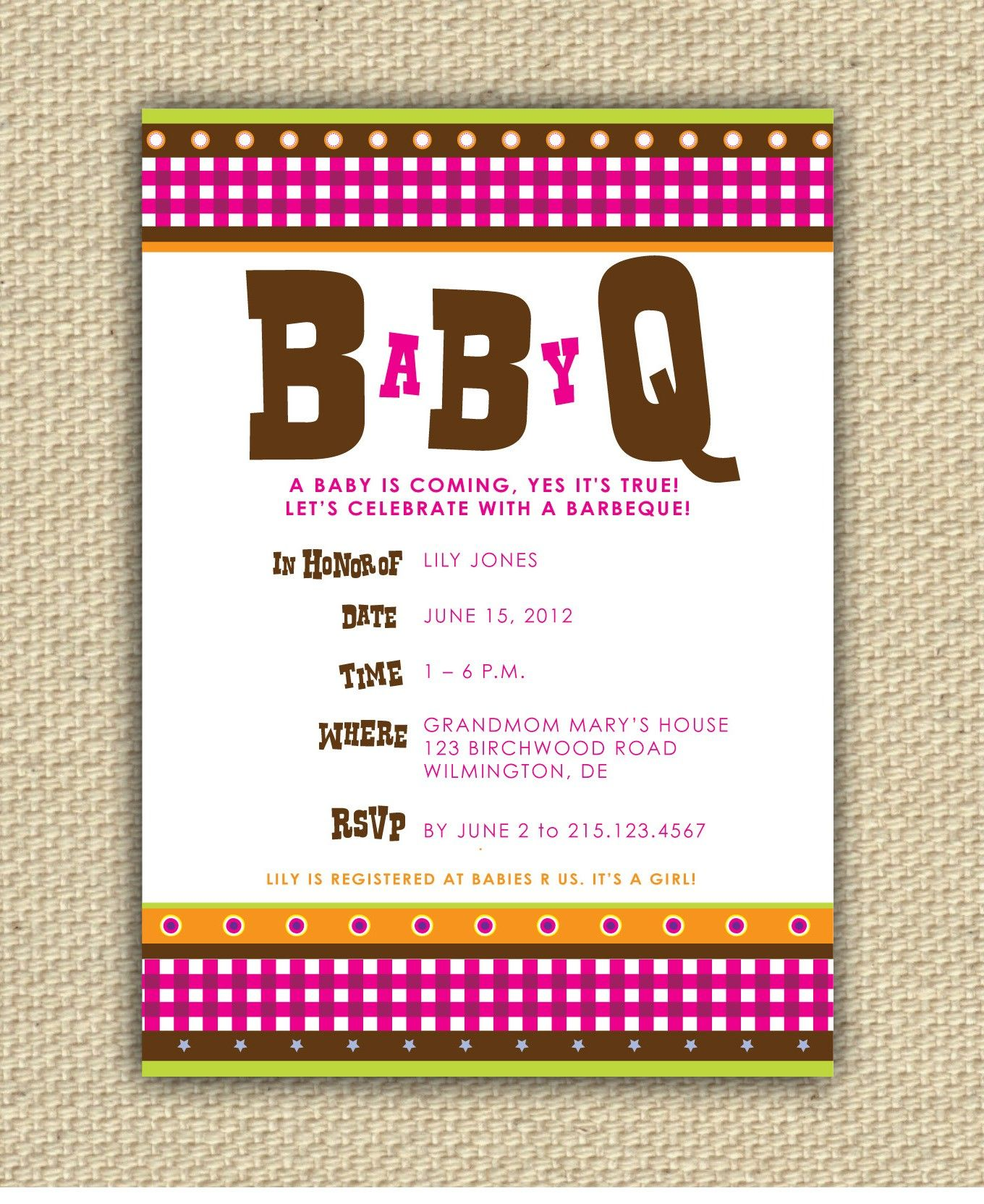 Baby BBQ Shower Invitation BaByQ by stacey0803 on Etsy, $20.00 ...