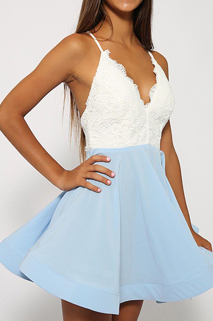 Just Swing It Blue Dress by LoveCat