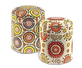 Set de 2 botes de cocina en cerámica – multicolor