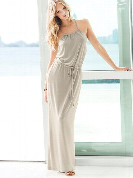 Supermodel Essentials Maxi Dress Up Downtime And Keep It Comfy In Our Lounge Loving With A Fluid Drape Drawstring Waist For Effortless