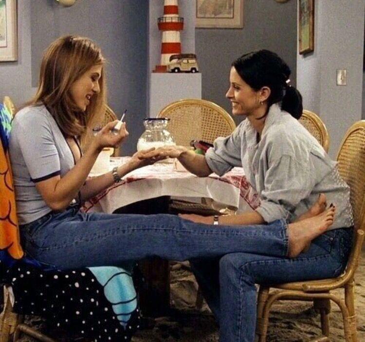 Rachel and Monica … | Tv: friends, Friends tv show, Amigos para sempre