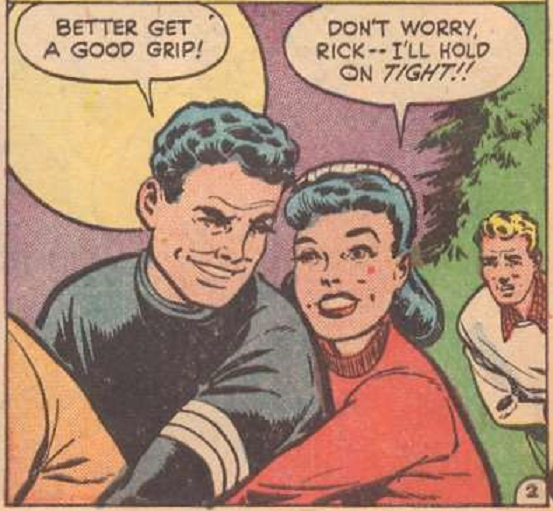 I'll hold on tight! comic books comics out of context