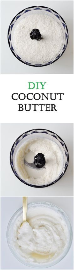 DIY Coconut Butter Recipe and Tutorial - Make your own coconut butter for half the price in 10 minutes with 1 single ingredient! Addicting and incredibly healthy! Vegan, Gluten free, and Paleo. Easy how to!