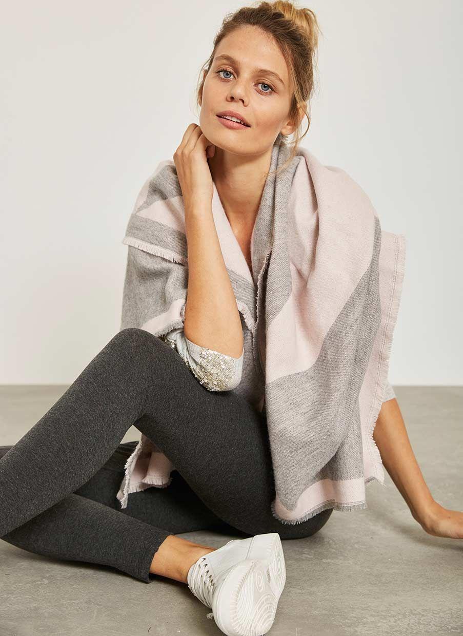 db3bc7f7dd6e Grey & Pink Star Blanket Scarf   NEW ARRIVALS   Blanket Scarf, Pink ...
