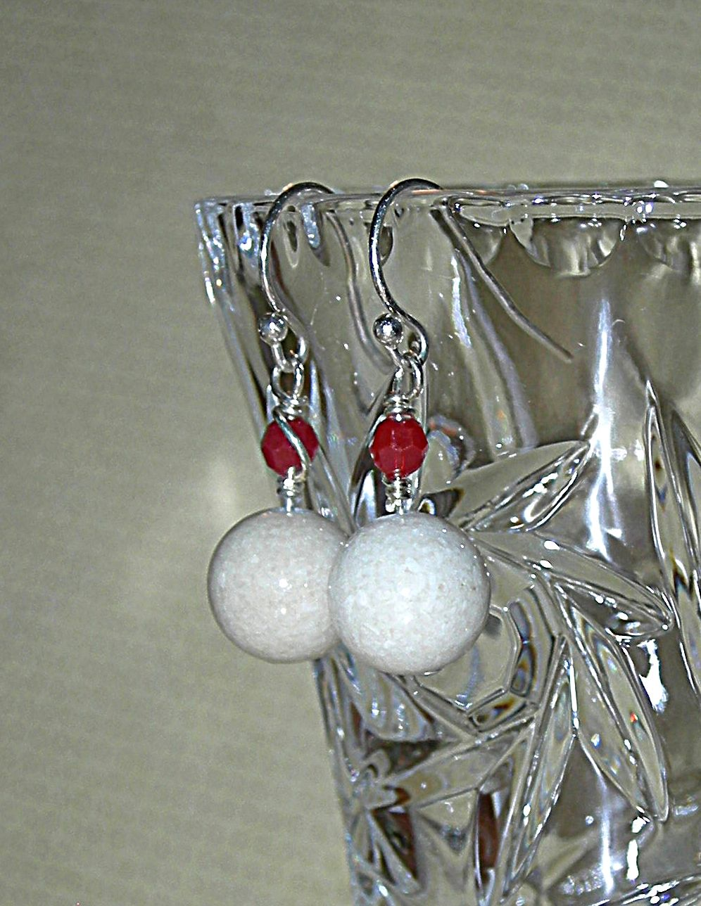 Ladies Swarovski Natural Earrings Dangle Sterling Silver Wire Wrapped