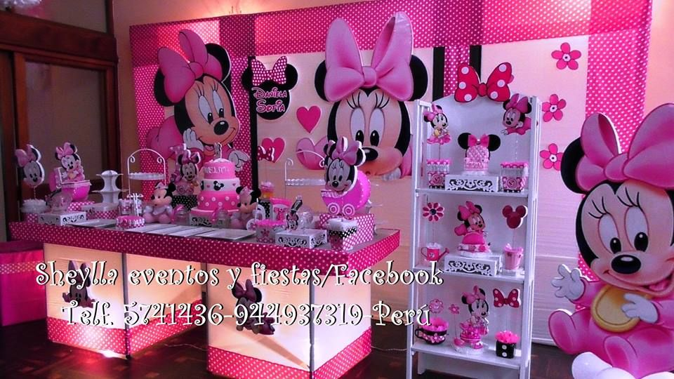 Decoraci n minnie bebe decoracion de fiesta infantil for Decoracion de bebes