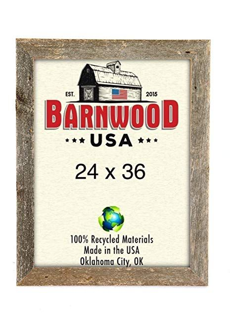 Barnwoodusa Rustic 24 By 36 Inch Picture Frame 2 Inch Wide 100