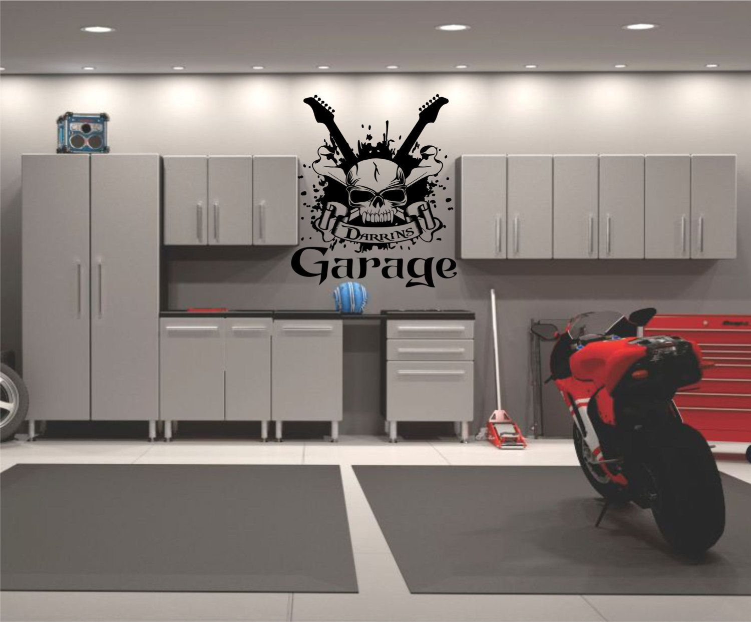 Garage Wall Decal Personalized Garage Decal Garage Decor Garage - Custom vinyl wall decals for garage