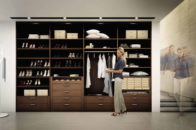 multiforma ii walnut walkin wardrobe by h252lstawerke