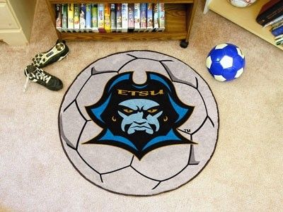 East Tennessee State ETSU Buccaneers Soccer Ball Area Rug Welcome/Bath Mat