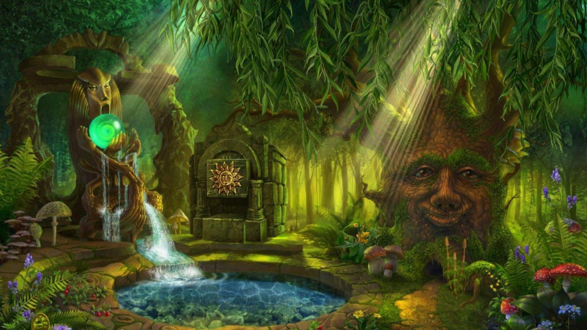 Fairy Garden Fantasy Landscape Fantasy Fantasy Forest