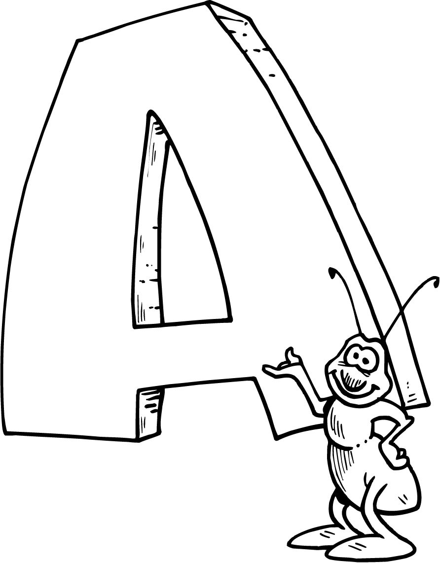 Letter A Coloring Page : - Coloring Guru | compassion | Pinterest ...