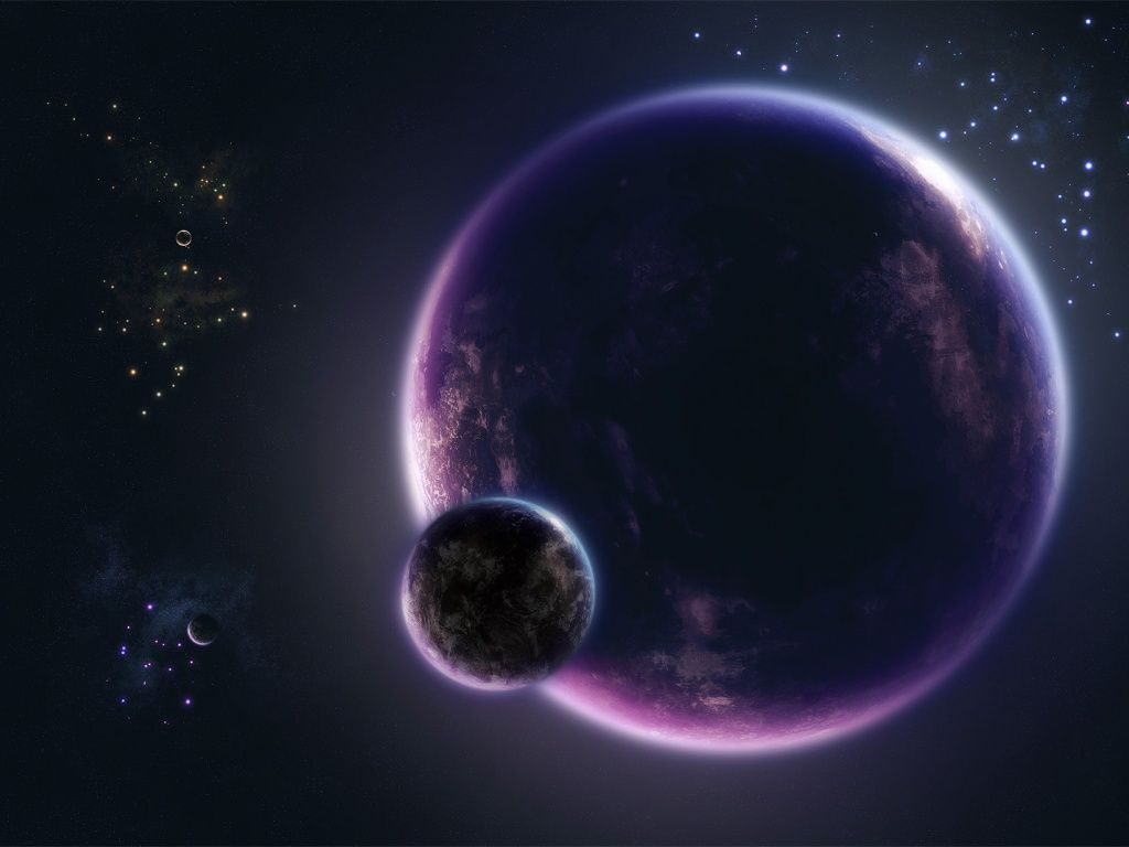 Purple Planet Cool Space Wallpaper Jpg 1024 768 Space Art Space Artwork Outer Space Art