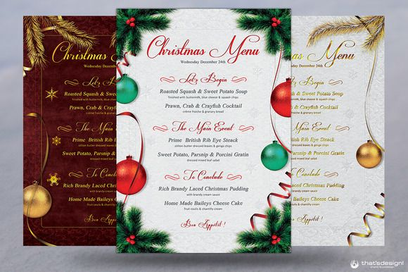 Christmas Menu Template V1 - christmas menu word template