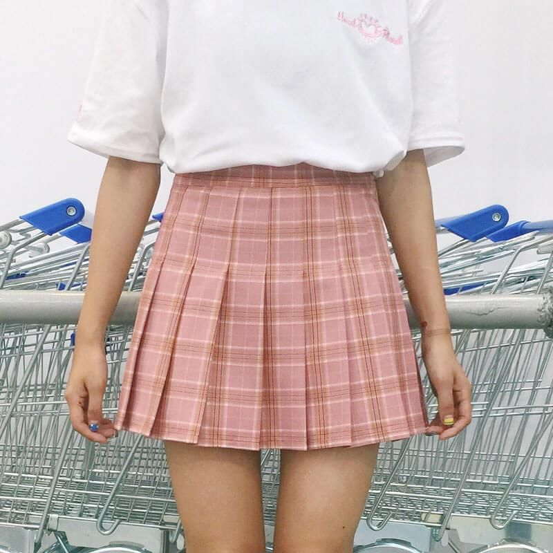 d919318abb itGirl Shop PLAID CUTE SCHOOL STYLE PLEATED SKIRT Aesthetic Apparel, Tumblr  Clothes, Soft Grunge