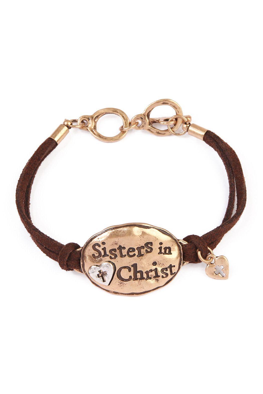 Sister In Christ Charm Bracelet