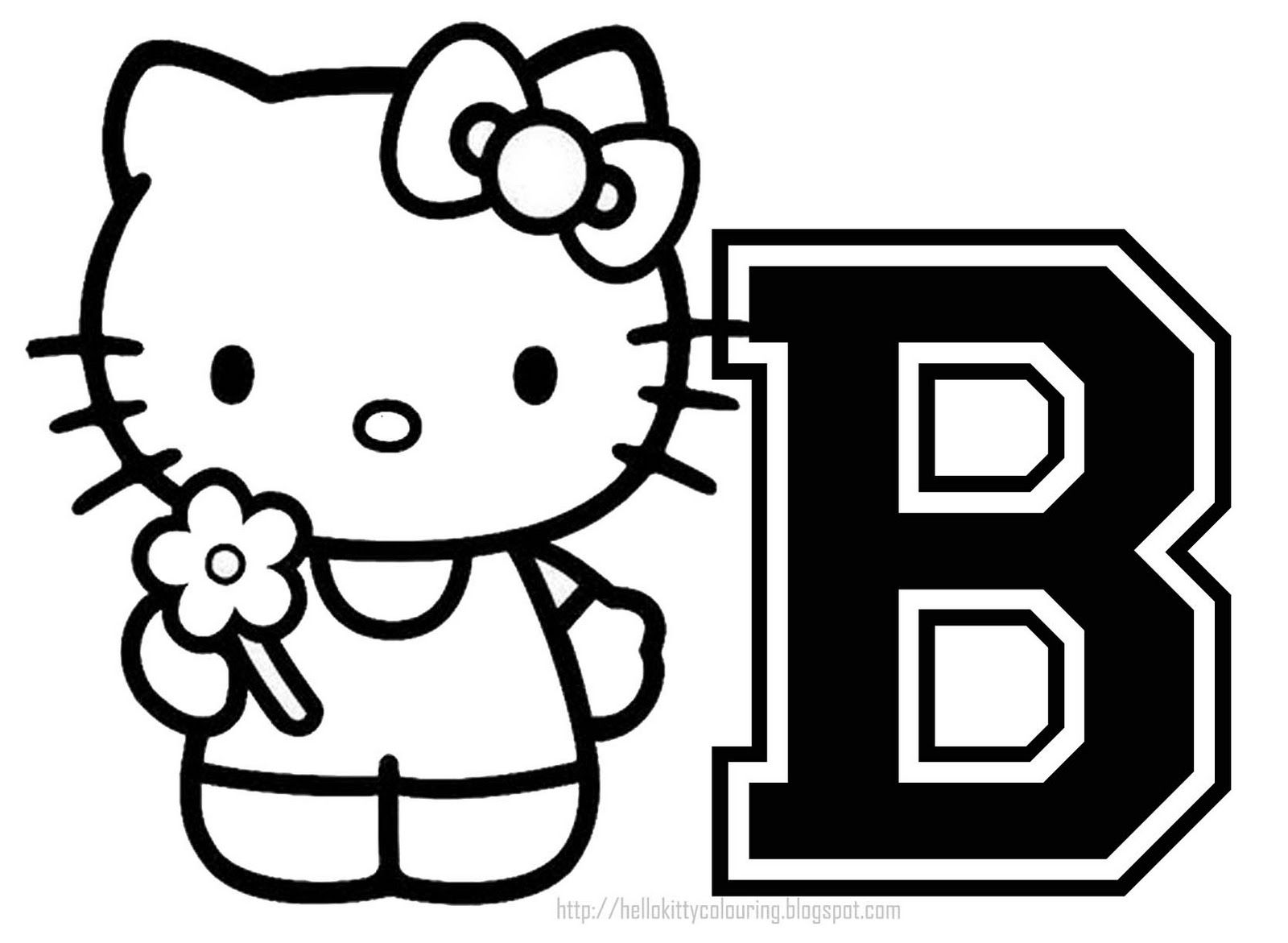 Coloring book pages letter m - Free Printable Hello Kitty Coloring Pages Party Invitations Activity Sheets And Paper Crafts For Hello Kitty Fans The World Over