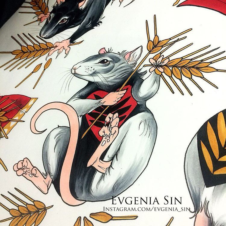 For booking and any question forevgeniasin@gmail.com vk.com/evgenia_sin facebook.com/evgeniya.sin.  По поводу записи и других вопросов forevgeniasin@gmail.com vk.com/evgenia_sin facebook.com/evgeniya.sin #evgeniasin #nonametattooshop #illustration #neotraditionel #neotraditional #neo #traditionel #traditional #draw #drawing #tattoo #ink #tattooed #inked #sketch #sketches #flowers #animals  #rat