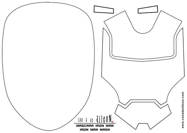 iron man face mask template - mascara cumplea os iron man iron man themed party mask
