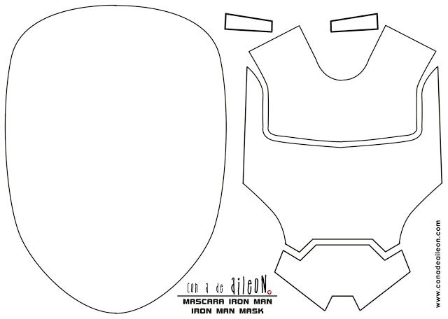 Mascara cumpleaños Iron Man / Iron Man themed party mask free ...