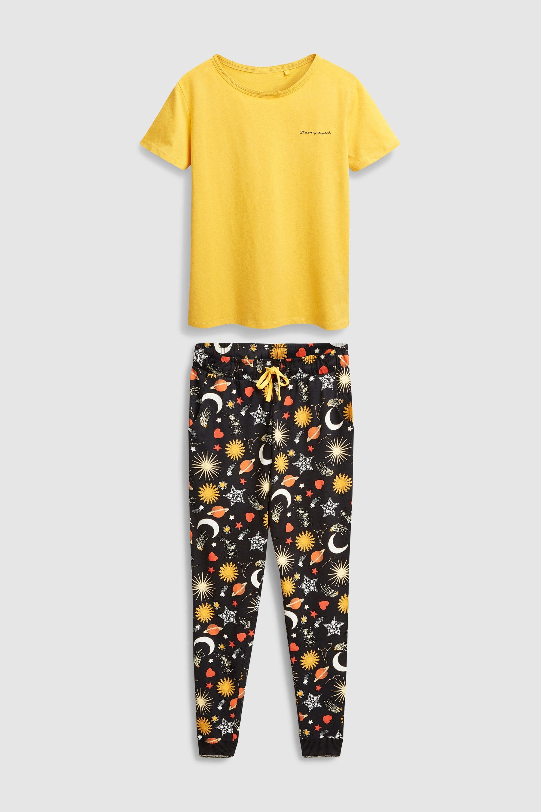 a82676bb258 Womens Next Yellow Galaxy Cotton Pyjamas - Yellow