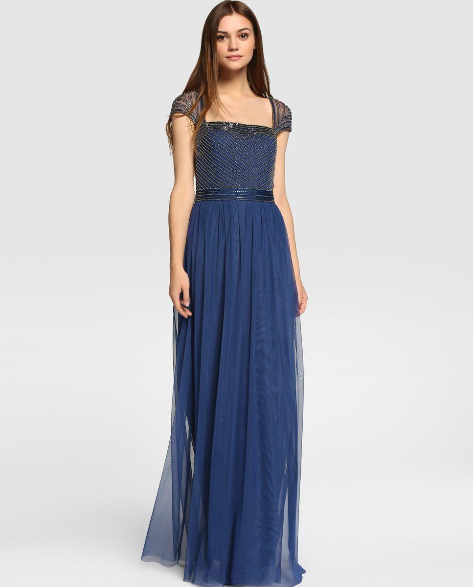 0a1c38c7e Vestido de fiesta de mujer Tintoretto con tul y strass